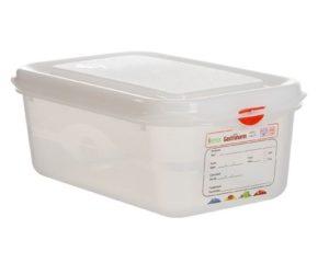 Hermeetiliselt suletav plastkarp 1/4 Пищевой контейнер пластик GN