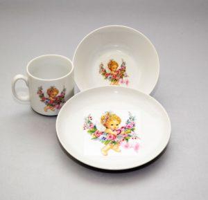 Lauanõude komplekt lastele Набор детской посуды из 3Ingel 3-osaline