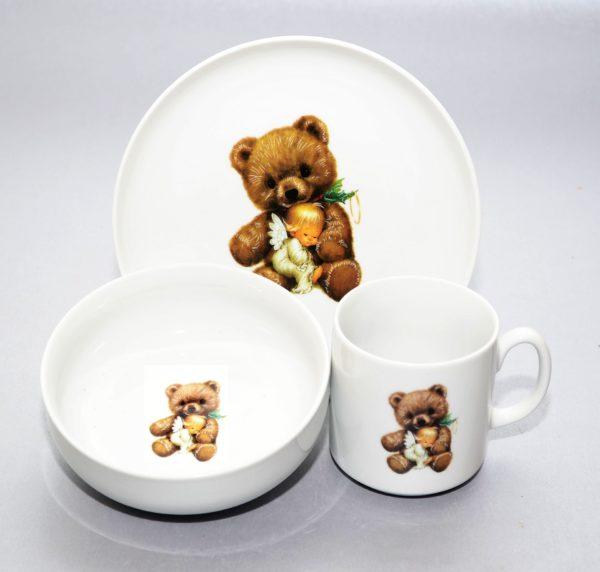 Lastenõude komplekt Karuke Комплект детской посуды Медвежонок 3 osa
