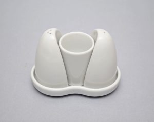 Maitseainete komplekt 110x60x80 mm, portselanist