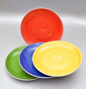 Taldrik kollane sinine punane 250 mm Тарелка красная желтая синяя зеленая