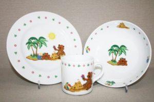 Lastenõude komplekt Karud Palmisaarel 3 osa Комплект детской посуды Медвежонок