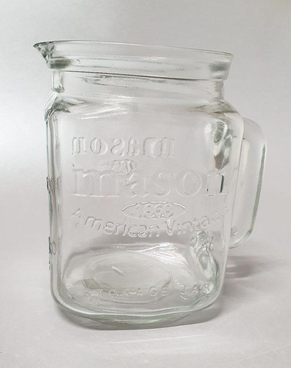 Tugevast klaasit sangaga kruus-kann Кувшин широкий 2 литра