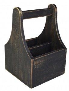 Söögiriistade hoidik puidust 2-lahtriga