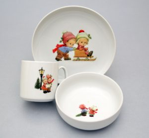 Lauanõude komplekt lastele Lapsed Talvel Комплект детской посуды Детки зимой